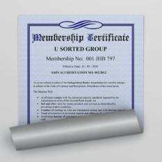 U Sorted Group - IDA Certificate